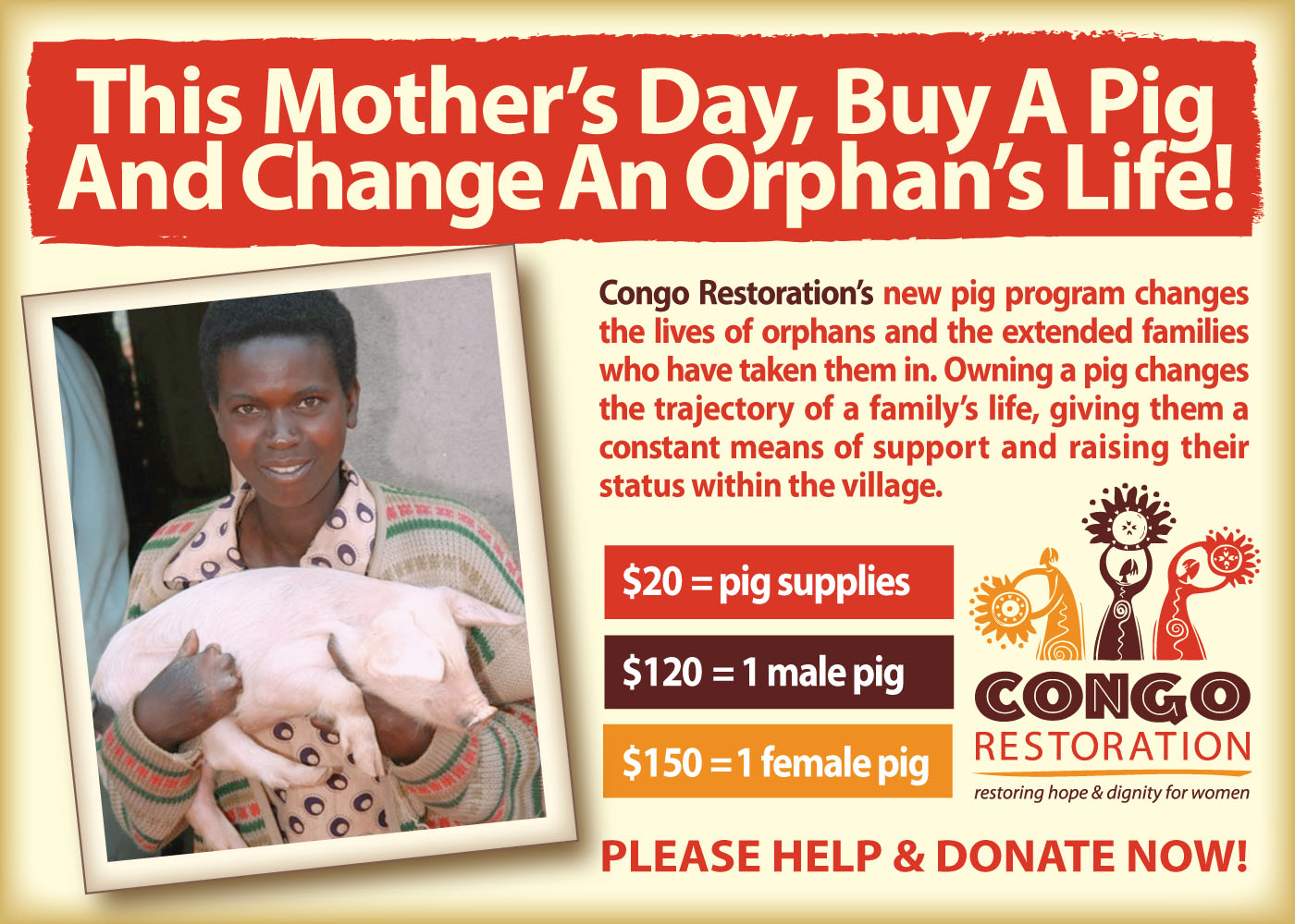 2016 Congo Mothers Day Ad